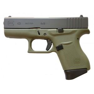 Glock 43 Battlefield Green 9mm Handgun