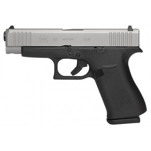 Glock G48 9mm 10rd Silver Slide Handgun