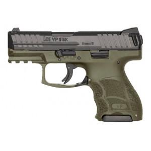 HK USA VP9SK 9mm 10rd OD Green / Night Sight Handgun