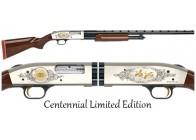 Mossberg 500 Centennial Limited 12GA Nickel Shotgun