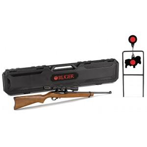 Ruger 10/22 22LR w/ Scope + Steel Target